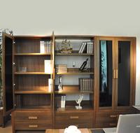 书房家具 实木组合书柜书架 中式现代家具 三门书柜 6502