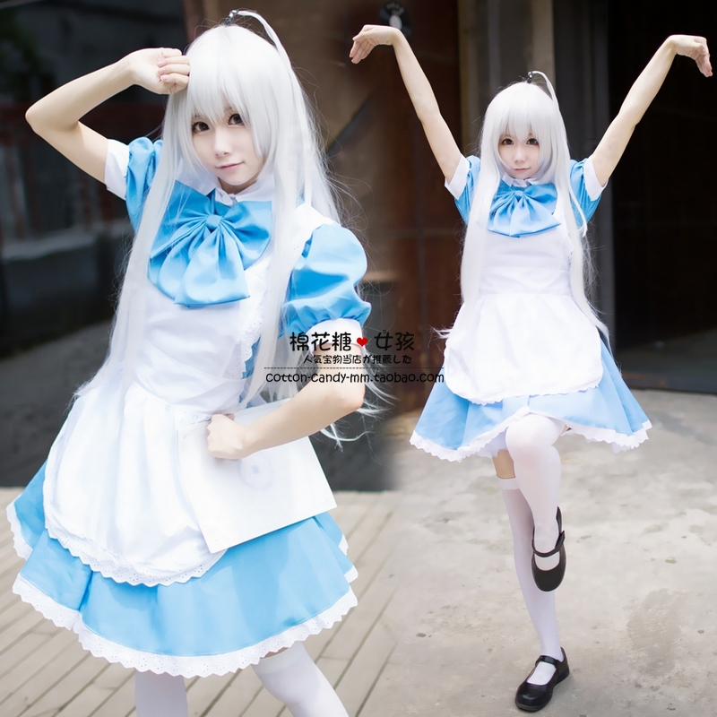 Japanese anime cosplay costume ladies' maid cos