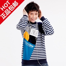 Bigger sizes 14 male children's clothes and hair thickening tong long sleeve T-shirt cuhk 8 qiu dong outfit 17 of the 10-12-16 - year - old boy 13