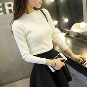 毛衣女短款冬装加厚半高领针织衫秋冬长袖套头打底衫