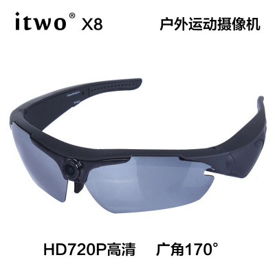 itwo X8 riding glasses outdoor adventure skiing Moped camera recorder HD 720P