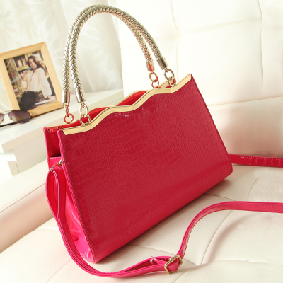 2014 new wave of crocodile handbag red bridal bag wedding bridesmaid bag portable shoulder bag diagonal bag
