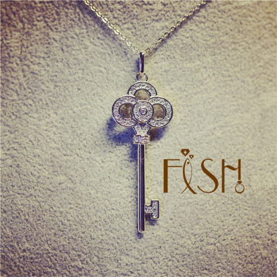 F - ishT home key necklace
