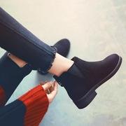 马丁靴子女鞋冬季2018网红瘦瘦加绒雪地棉鞋百搭平底英伦短靴