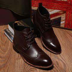 2014秋季新款布洛克休闲系带高跟鞋 复古雕花镂空单鞋 P105