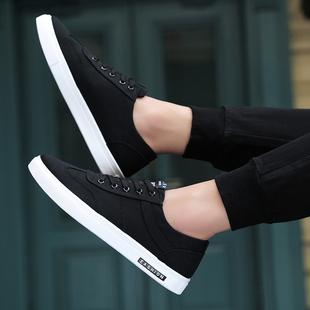2019春季男鞋子潮流男士潮鞋夏季帆布鞋小白布鞋板鞋