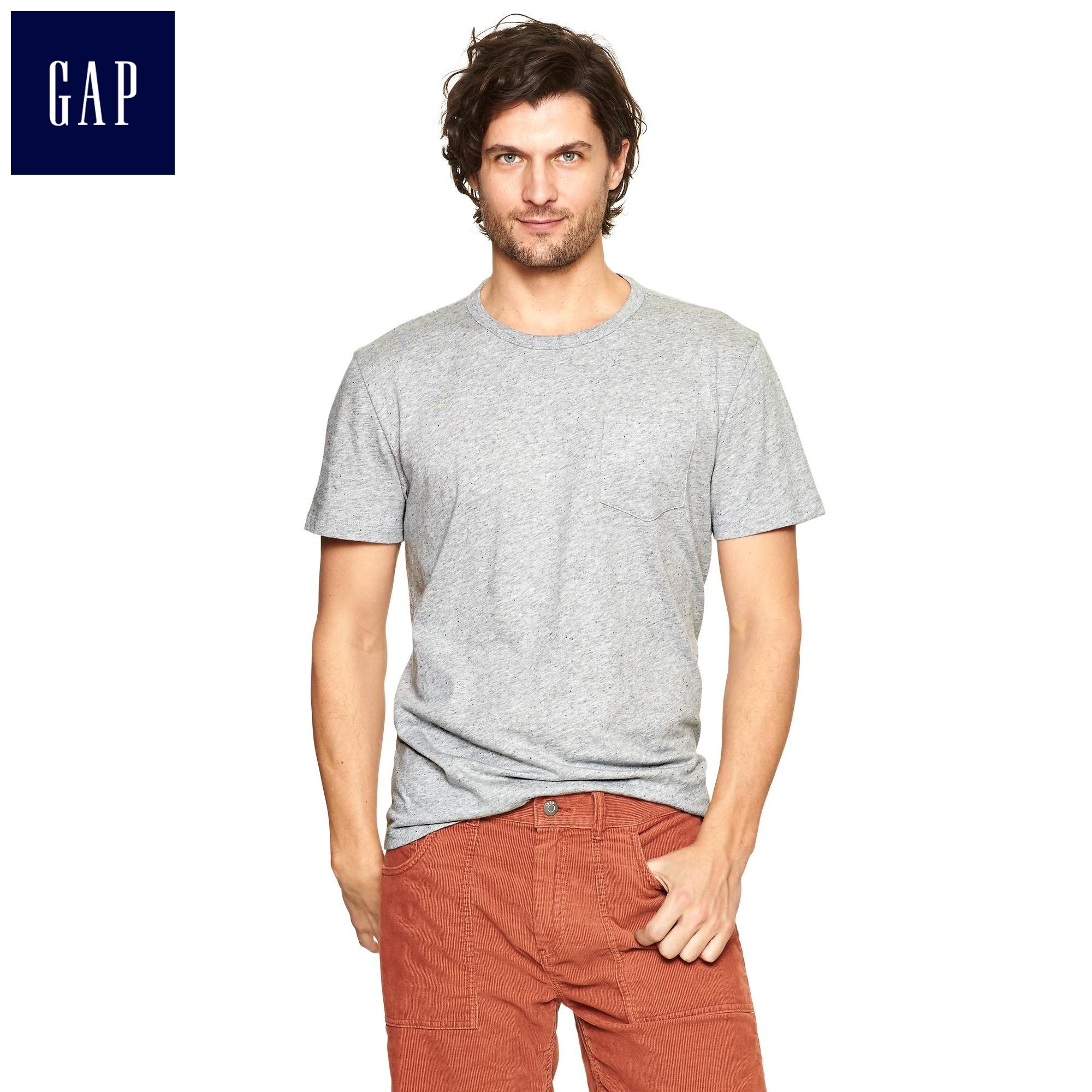 gap小散点柔和纯色棉质t恤男装960482