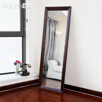 BOLEN body length mirror floor mirror dressing mirror walnut color pattern stylish minimalist modern 0052