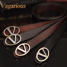 The new 2014 VAGARIOUS pin buckle the leisure leather belt lap belt authentic cowhide alloy