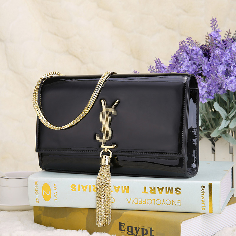 Y word retro fringed shoulder bag small bag chain crocodile pattern leather evening bag new fashion handbags