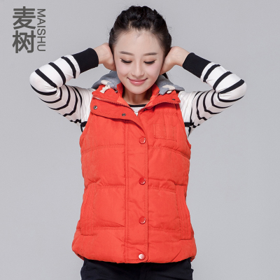 2014 new Ms. short paragraph cotton vest vest female Korean fashion women's autumn and winter thick hooded vest