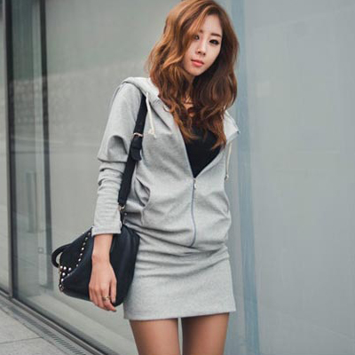 sweater2015韩版新款连帽连衣裙女hoodies women autumn dress