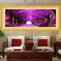 钻石画紫色爱情树客厅满钻黄金满地版贴钻十字绣钻石绣新款婚房绣