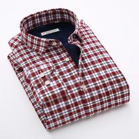 2015冬季新款格子保暖衬衫男士加绒加厚长袖商务休闲修身青年衬衣