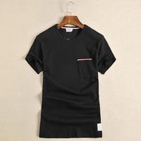 2016夏装高端圆领男士短袖T恤 青少年运动打底衫