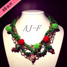 AJ - F2014 new bread superman wave plate sugar pendant chain twist flower necklace, necklace jewelry Han Chao woman