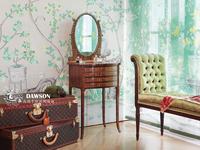 手绘真丝壁纸壁布 手绘丝绸墙纸 手绘壁画墙画 天然蚕丝工笔花鸟