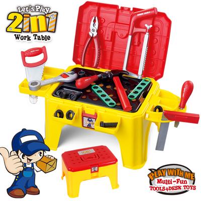 贝恩施拆装工具椅 多功能仿真维修工具箱 儿童男孩过家家玩具套装