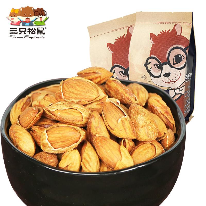 【三只松鼠\_手剥巴旦木】零食坚果炒货特产手剥薄壳杏仁235gx2袋
