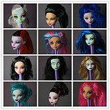 Genuine Mattel Monster High Elves High School High School Touguai baby doll head doll head makeup change