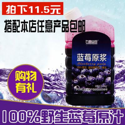 九鑫山珍 蓝莓汁小兴安岭野生蓝莓果汁 500g