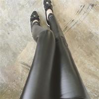 韩国秋冬新款女装休闲百搭气质修身显瘦加绒加厚PU皮打底裤女潮特