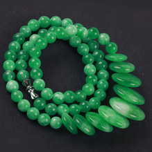 Package mail medallion authentic Malay jade necklace natural emerald green chalcedony jade jewelry jade jade necklace