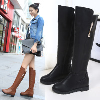 高筒靴Winter girl leather shoes Autumn flat long boots women_250x250.jpg
