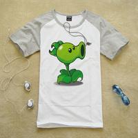 植物大战僵尸PVZ游戏周边服装豌豆射手学生夏季青少年纯棉短袖T恤