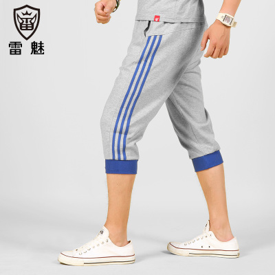 Sports shorts male summer thin section of seven men sport pants shorts 7 pants Ray yards sports charm