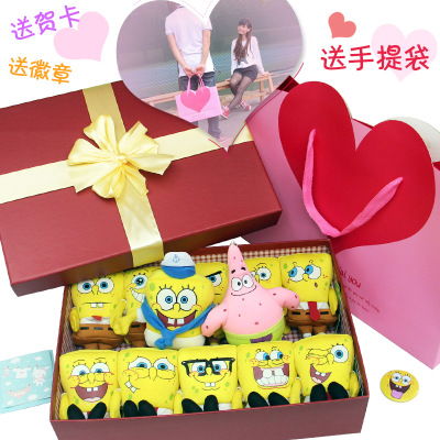 Multi expression SpongeBob plush toys doll nanoparticles doll girls married Valentine Day gift