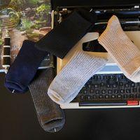 2015年新款 棉羊绒基础男袜百搭短袜抽条柔软羊毛袜男士中筒袜