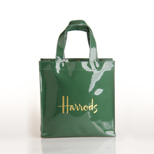 官网同步 harrods shopping bag墨绿色logo字大容量购物袋 手提包