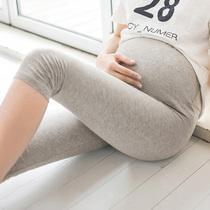 孕妇裤孕妇打底裤七分裤夏季薄款夏装7分裤大码短裤托腹外穿裤子