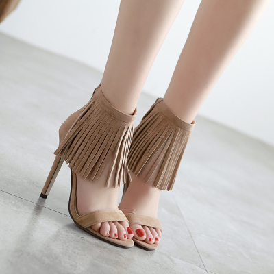 2016 beauty women high heels leather party show sandals girl