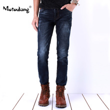 Beastmaster Wolf authentic men's skinny jeans young male feet blue winter in the new show slender waist trousers