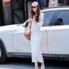套装女2019秋装时尚女士白色卫衣慵懒风显瘦两件套潮