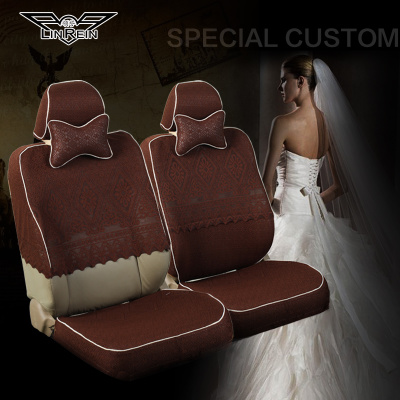 Fitch BMW Land Rover Porsche X1X3X5 collar half sleeve lace new autumn and winter seasons universal car seat covers