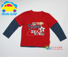 Mini Car/cars boys long sleeve off two pieces of pure cotton T-shirt size 4 110/56