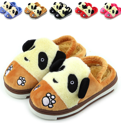 Special children's cotton slippers winter package with non-slip heavy-bottomed children cartoon panda cotton slippers home slippers free shipping