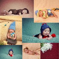 新款百天宝宝儿童影楼拍照摄影照相欧美风格婴儿毛毯背景特价