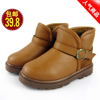 Children snow boots boys shoes 2014 new winter warm thick velvet large padded non-slip waterproof boots