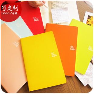 韩国文具 初品糖果色记事本 A5笔记本软抄本子B5日记本可定制logo
