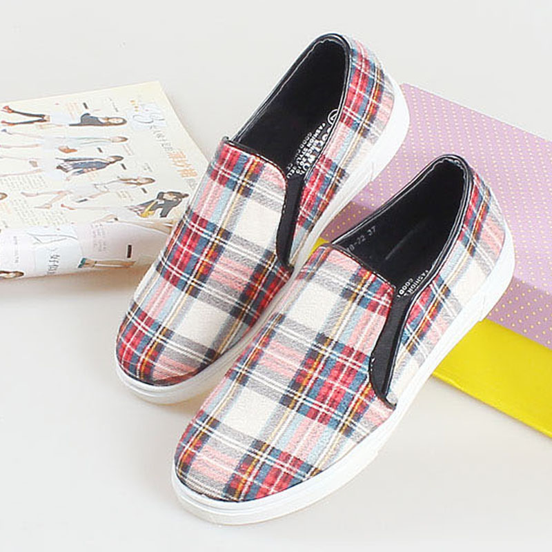 England style of cloth trade flat shoes a pedal lazy spell color canvas shoes with flat shoes casual hip-hop