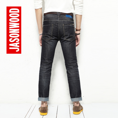 JASONWOOD stick to my European and American minimalist tide male cats should be tapered fit jeans 1241653203