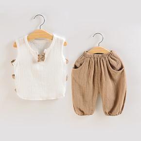 <b>[181人已浏览]</b>儿童棉麻短袖套装