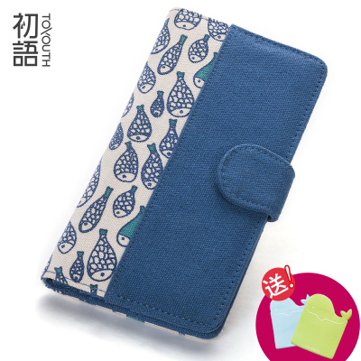 Early language 2014 new fashion hit color printed canvas wallet women wallet long section versatile multi-card position