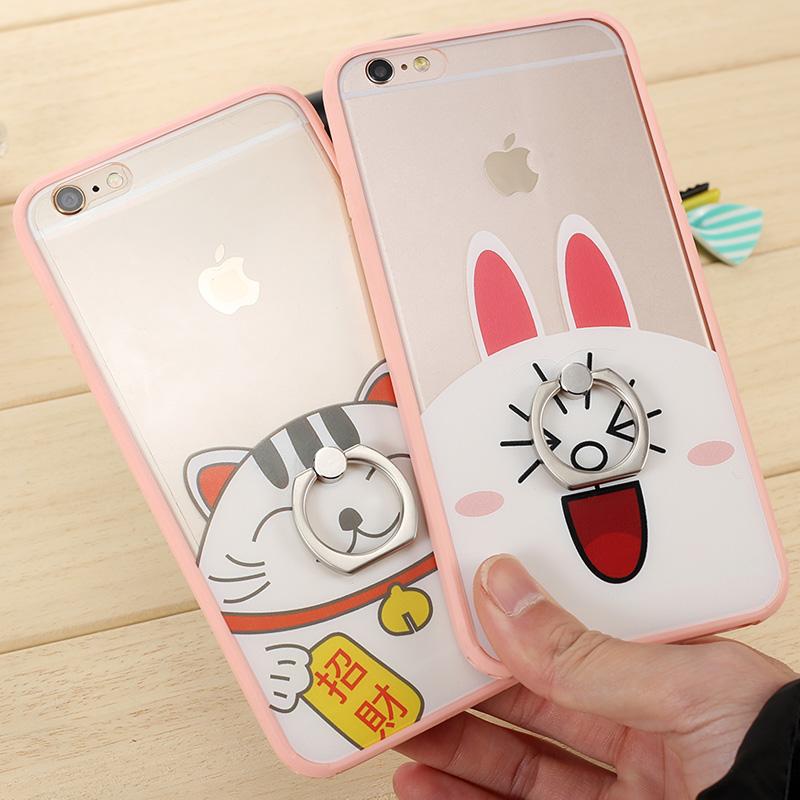 桌面闪粉彩色iphone6S手机壳6plus苹果兔子耳手机苹果v桌面红色图片