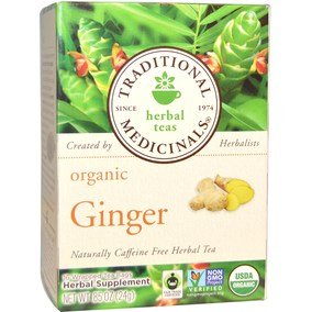 Traditional Medicinals Organic Ginger tea 有机姜茶不含咖啡因