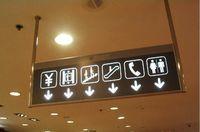 商场指示牌吊牌导向牌立面牌大型双面发光导向牌